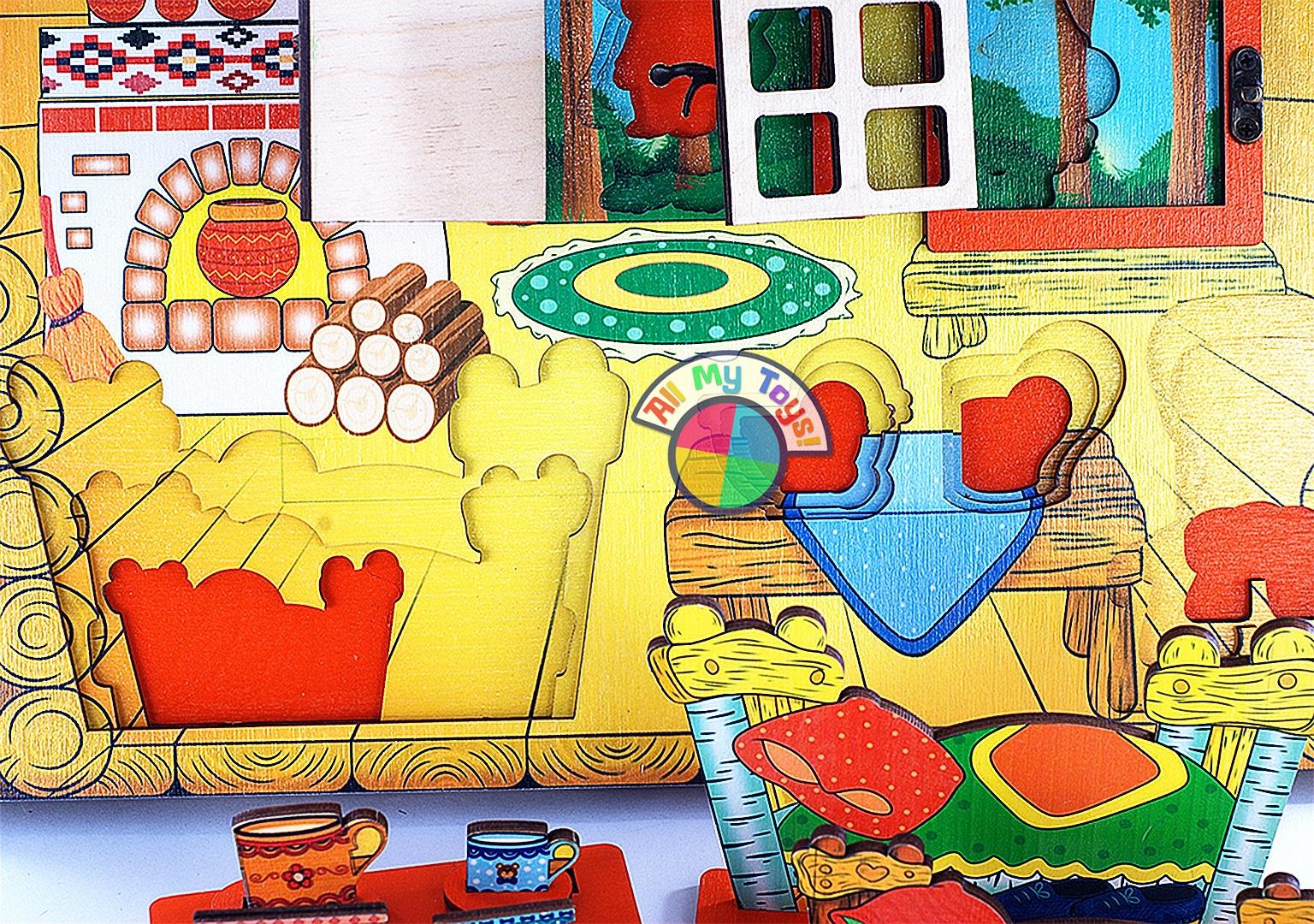 Картинки декорации к сказке три медведя