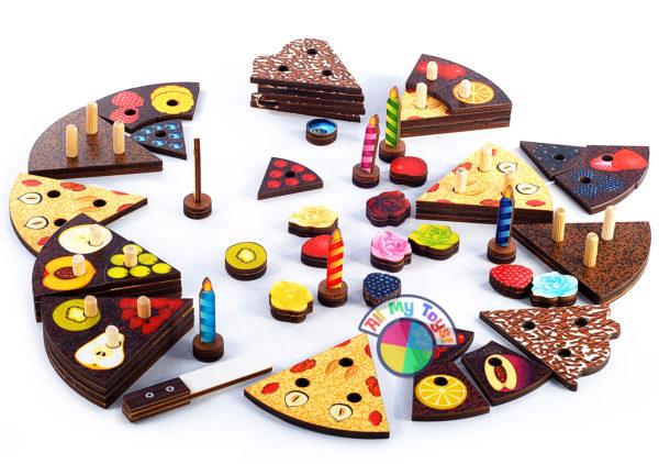 Деревянная развивающая игрушка Торт