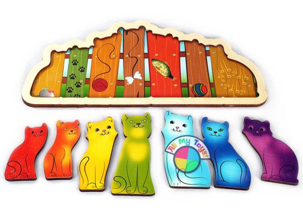 Развивающая доска Разноцветные котята