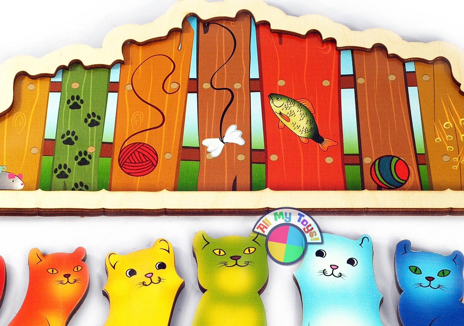 Развивающая доска «Разноцветные котята»