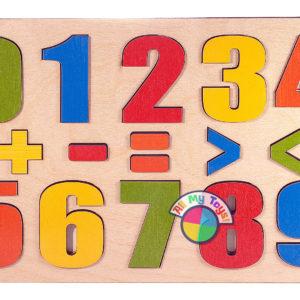 Развивающая доска Разноцветные цифры