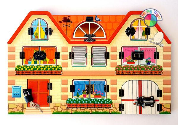 Бизиборд Дом, в котором мы живем