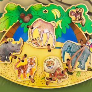 Деревянная шнуровка «В Африке»