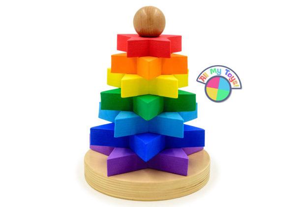 Пирамидка Радуга. Звездочки