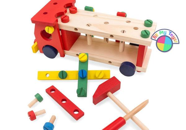 Деревянный конструктор «Машина-стучалка»