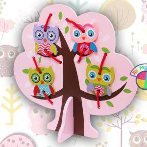 Шнуровка «Дерево с совятами»